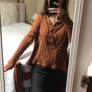 URBAN OUTFITTERS never worn orange top